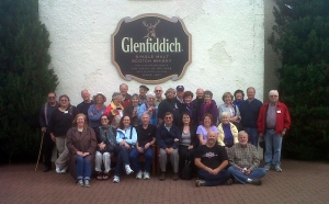 Group Elation Captured at Glenfiddich - before the free drams!